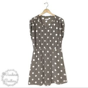 Madewell Broadway & Broome Silk Polka Dot Dress